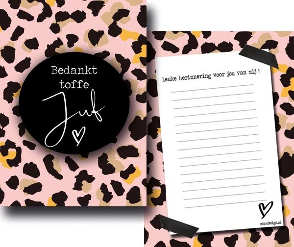StormIT-Design Juffen kaartje roze
