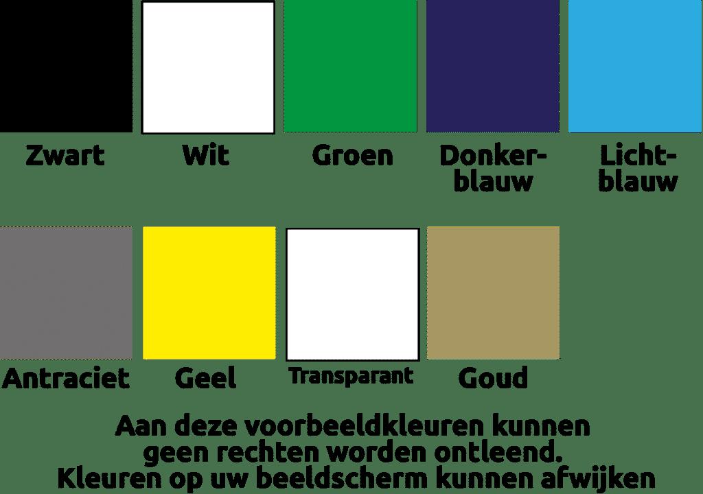 Kleuren naambordjes