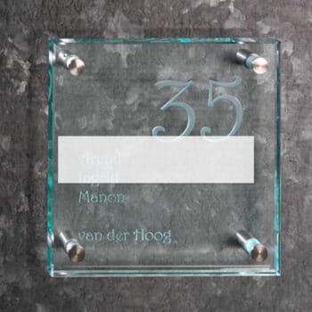 Helder glas 15 mm