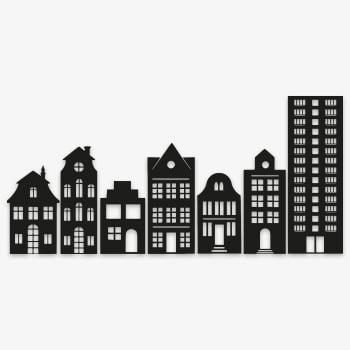 stormit raamfolie sticker 7 huizen