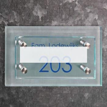 Helder en gematteerd glas 8 mm