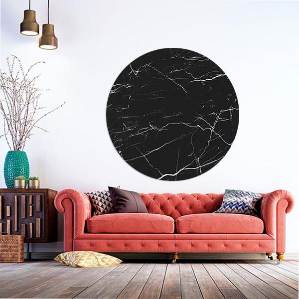 StormIT-Design Muurcirkel Zwart-marmer